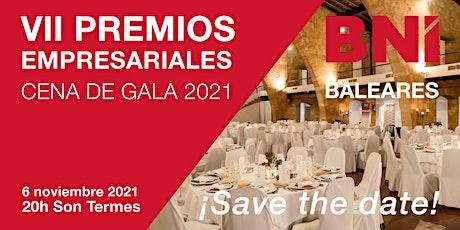 Cena VII Premios Empresariales BNI Baleares entradas