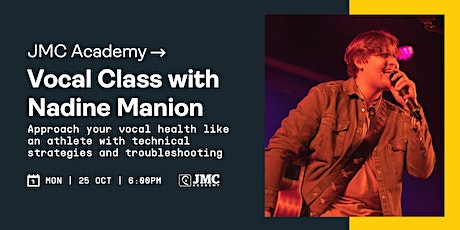Vocal Masterclass with Nadine Manion tickets