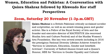 Women, Education and Pakistan - A FROK event tickets