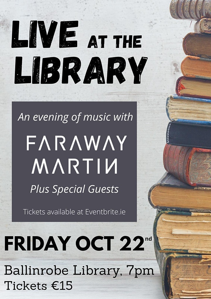 Live at the Library - Faraway Martin & Guests image