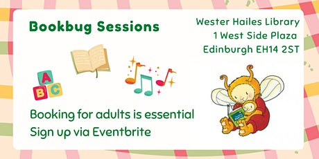 Bookbug session for under 5s  - Wester Hailes Library tickets