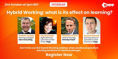 Hybrid working: what is its effect on learning? tickets