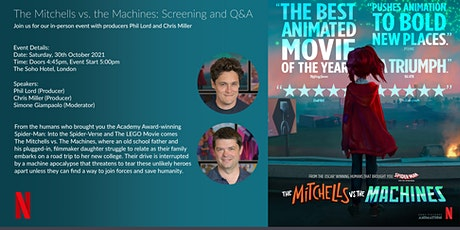 The Mitchells vs. the Machines: Screening and Q&A tickets