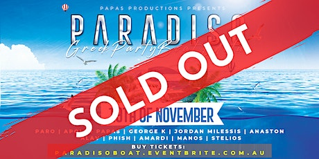 SOLD OUT: PARADISO BOAT PARTY tickets