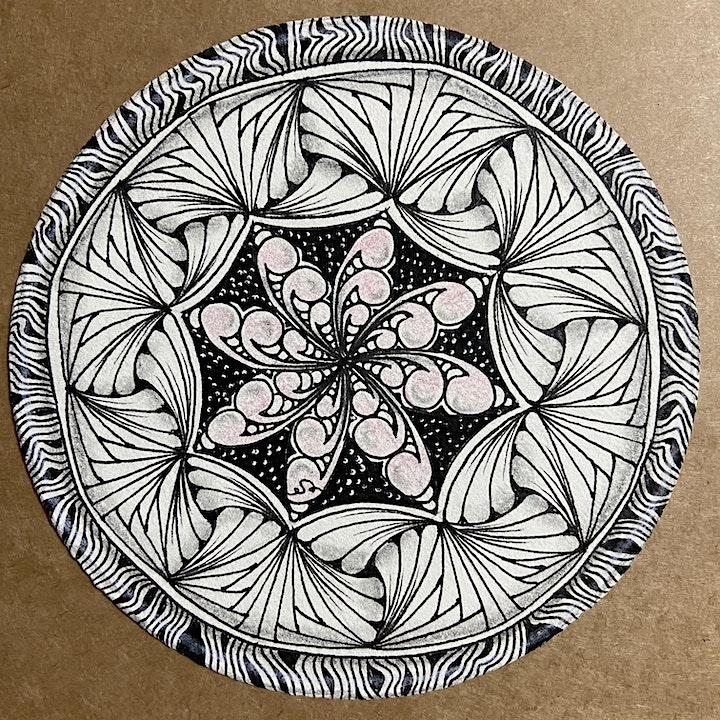 Zentangle Art Course starts  Oct 16  (8 sessions) - Hybrid @ MacPherson image