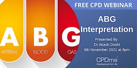 ABG interpretation Presented by Dr Akash Doshi tickets