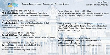 Lecture Series: Current Issues North American Studies and Cultural Studies tickets