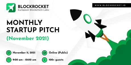BLOCKROCKET's Monthly Startup Pitch: November 2021 tickets