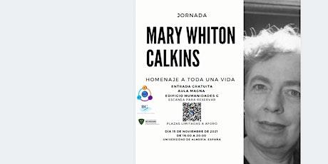 Jornada Mary Whiton Calkins entradas