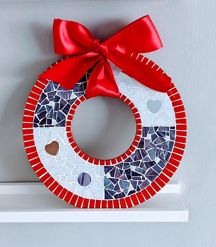 Mosaic Mirror Workshop / Christmas Wreath image