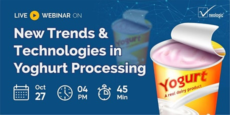 New Trends & Technologies in Yoghurt Processing tickets