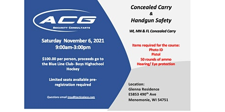 Concealed Carry Training tickets