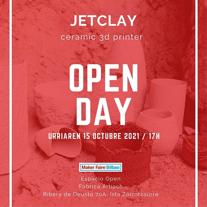 Imagen de OPEN DAY JETCLAY CERAMIC 3D PRINTER