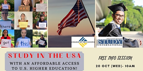 FREE Info Session: College of the Canyons (California, USA) tickets