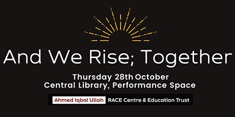 And We Rise; Together.  Performance and Protest Poetry tickets