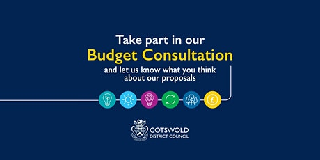 Cotswold District Council Budget Consultation Virtual Drop-In tickets