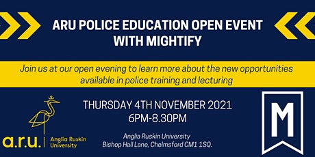 ARU Police Education Opportunities Event with Mightify tickets