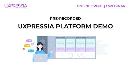 UXPressia Platform Demo tickets