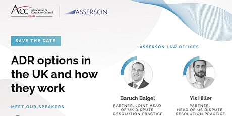 ADR options in the UK and how they work, a webinar by Asserson tickets