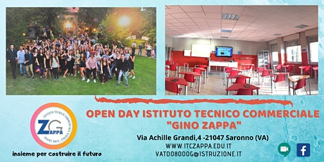 """Open Day Istituto Tecnico Commerciale """" G. Zappa"""" di Saronno biglietti"""