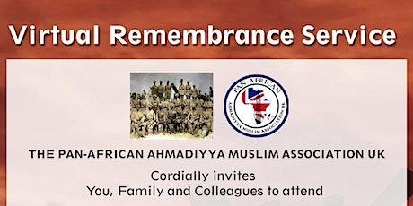 Virtual Remembrance Service tickets