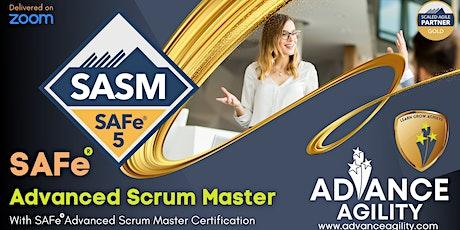 SAFe Advanced Scrum Master (Online/Zoom)Nov 08-09,Mon-Tue, Singapore (SGT) tickets