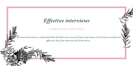 Techniques for conducting effective interviews tickets