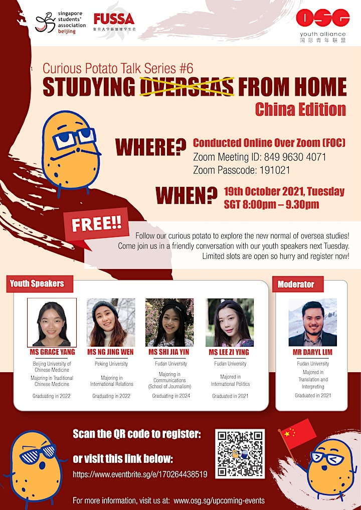 Curious Potato Talk Series #6 : Study Overseas from Home (China Edition) image