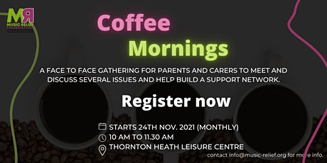 Coffee mornings with cake and biscuits tickets