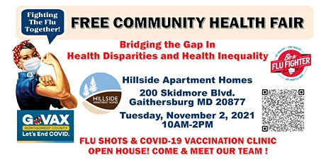 Community Health Fair -Vaccination Clinic -Flu, COVID-19 and Booster Shots tickets