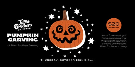 Pumpkin Carving at Tilton Brothers Brewing tickets