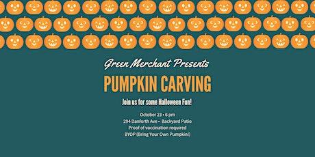 Green Merchant Presents A Pumpkin Carving Night! tickets