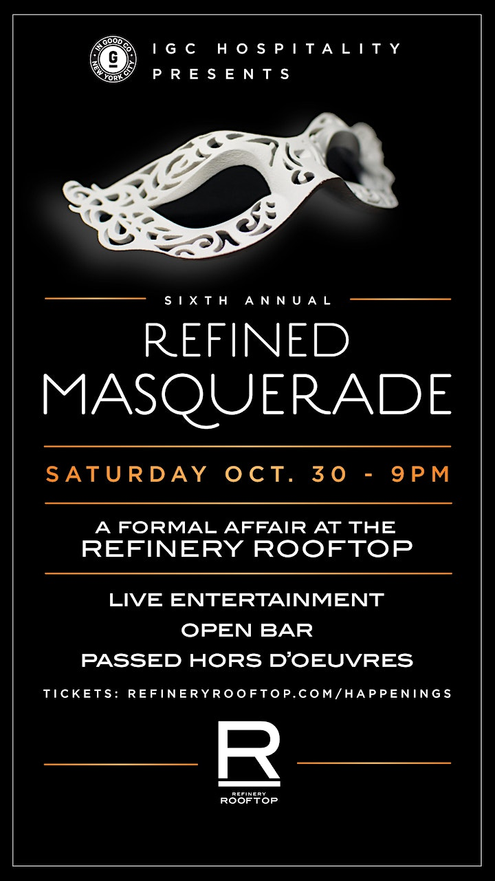 Masquerade Ball at the Refinery Rooftop image