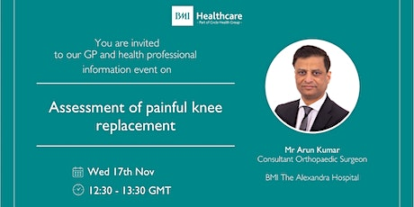Assessment of painful knee replacement tickets