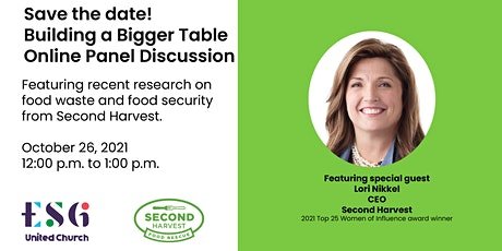 Food security panel discussion with Lori Nikkel - Second Harvest tickets
