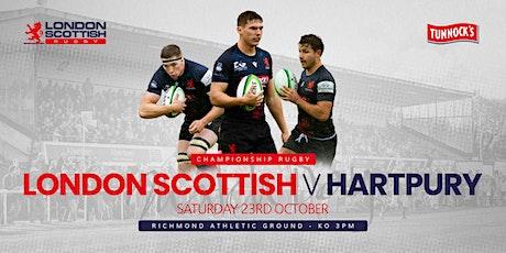 London Scottish v Hartpury tickets