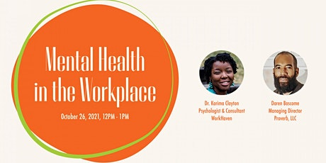 Mental Health in the Workplace tickets