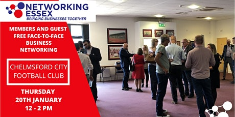 (FREE) Networking Essex Chelmsford Thursday 20th January 12pm-2pm tickets