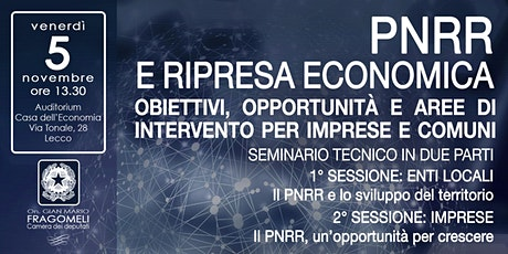 PNRR e ripresa economica biglietti
