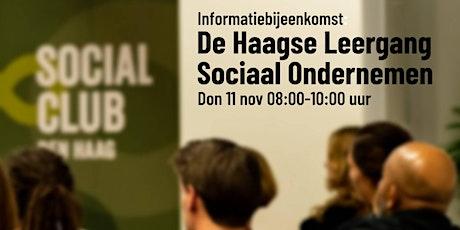 Informatie bijeenkomst 11 nov: Haagse Leergang Sociaal Ondernemen tickets