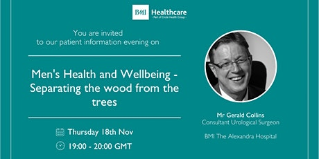 Men's Health and Wellbeing - Separating the wood from the trees tickets