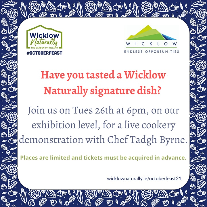 Live Cookery Demo at Wicklow library image