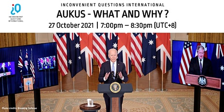 AUKUS - What and Why? tickets