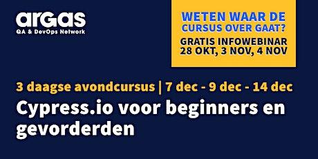 Cursus Cypress.io tickets