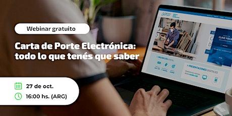 Carta de Porte Electrónica: todo lo que tenés que saber boletos