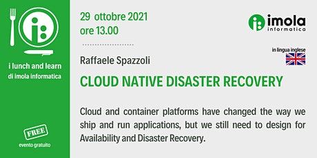 L&L - Cloud native disaster recovery tickets
