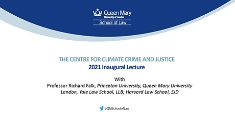 The Centre for Climate Crime and Justice: 2021 Inaugural Lecture tickets