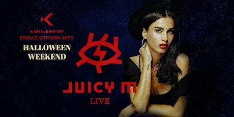 Halloween Weekend | Juicy M Live at Kabana Rooftop tickets