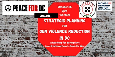 Strategic Planning for Gun Violence Reduction in DC tickets