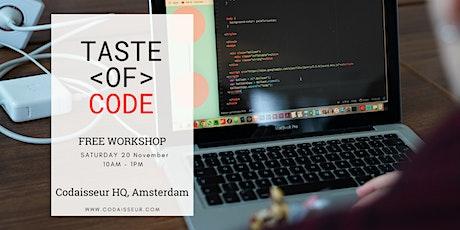 Taste of Code | Free Workshop tickets